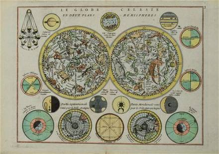 1748 Le Rouge Celestial Chart of both Northern and