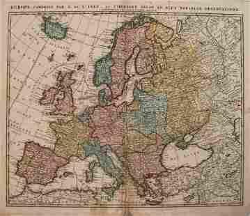 1792 Elwe Map of Europe -- Europe, Composee par G. de