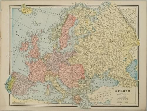 1891 Cram Map of Europe -- Europe