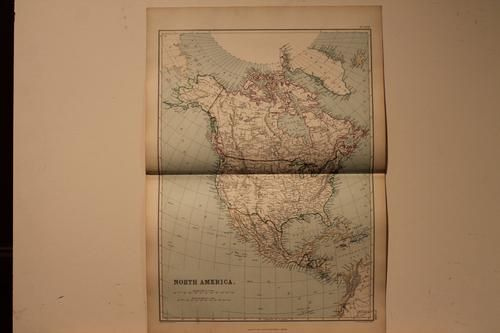 1882 Map of North America