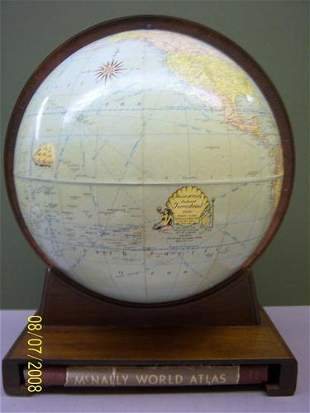 Rand McNally Indexed Terrestrial globe.