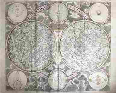 Celestial chart focusing on the northern and southern