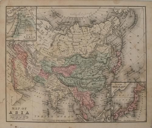 1865 Mitchell Map of Asia -- Map of Asia