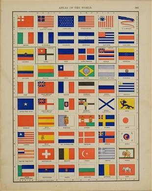1899 Rand McNally Chart of World Flags -- [World Flags]