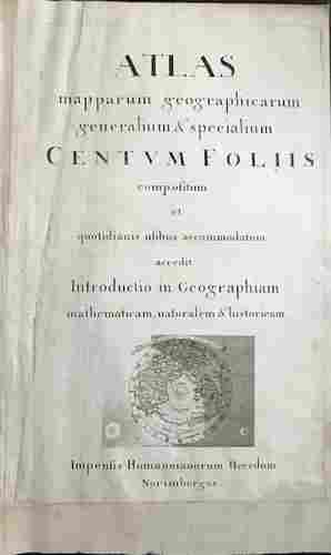 Rare second title page from Homann Heirs atlas. With