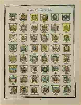 1902 Cram Chart of National Coats of Arms -- Arms of