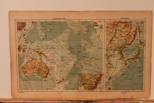 1918 Map of Australia