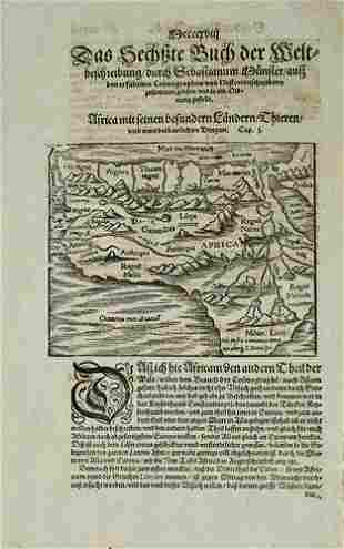 1598 Munster Map of Africa -- [Africa]