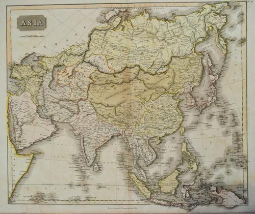 1827 Thomson Map of Asia -- Asia