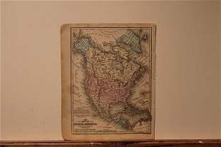 1852 Map of North America