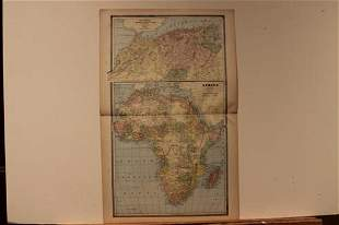 1884 Map of Africa