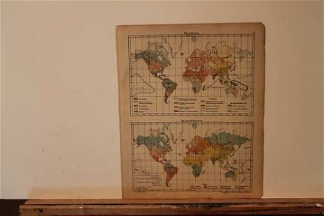 1877 World Religion and Population Map