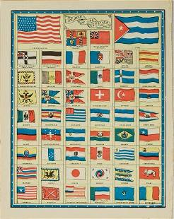 1903 Cram National Flags -- Flag of All Nations