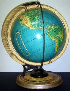 Cram's 12 inch Physical-Political Terrestrial Globe