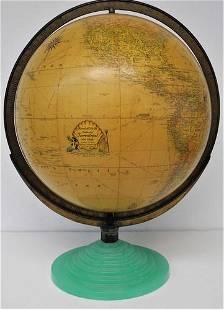 Rand McNally Indexed Terrestrial Art Globe. Diameter 12