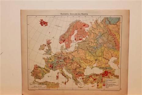 1877 European Geological Map