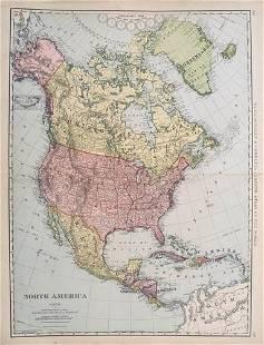 1898 c. Rand McNally North America Map -- North America