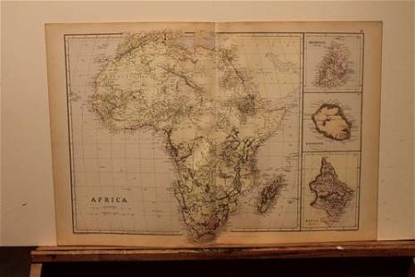 1882 Map of Africa