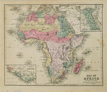 1875 Smith Map of Africa -- Map of Africa