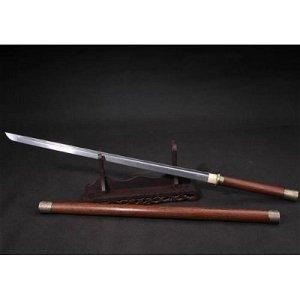 Everyday carry damascus steel sword hardwood saber