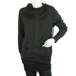 Y-3 Adidas Yohji Yamamoto Black Long Hooded Cotton