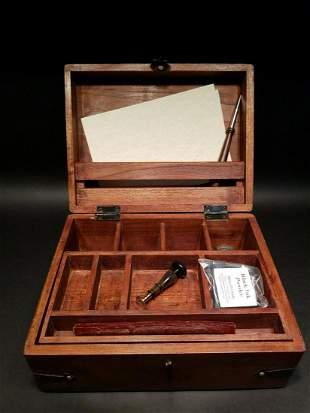 Wood Writing Set Desk Box