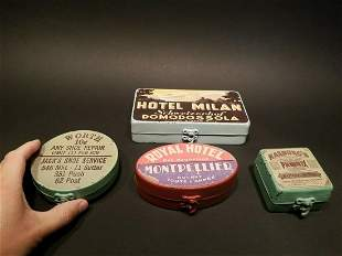 Set of 4 Tin Advertising boxes