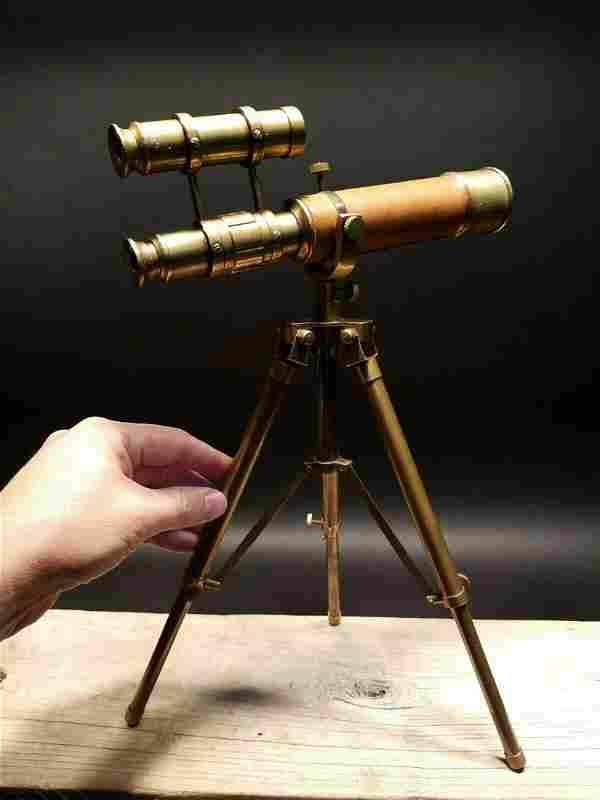 Brass Telescope & Brass Tripod