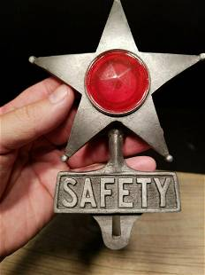 Aluminum Safety Star Car License Plate Fob Topper