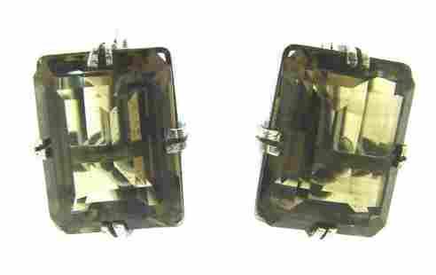 CHIC Sterling Silver & Topaz Screw Back Earrings