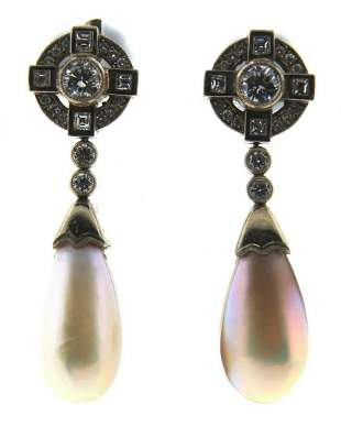 WOW Art Deco Revival 18k Gold, Mother of Pearl &