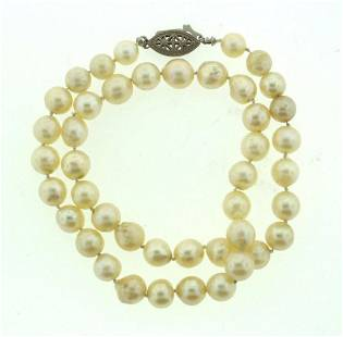 CULTURED PEARL NECKLACE BEAUTIFUL VINTAGE BEAUTY AND