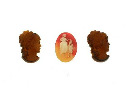 SET OF 3 CAMEO GREAT FOR A RING OR PENDANT MINI