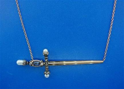OF ANOTHER TIME 14k Rose Gold, Silver, Sapphire,