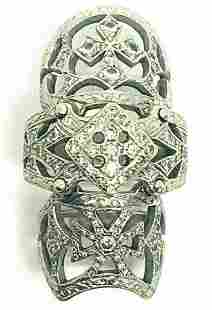 LOREE RODKIN 18K WHITE GOLD DIAMOND BABY BONDAGE RING