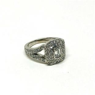 Kwiat 18K Diamond Cocktail Ring Designer Signed