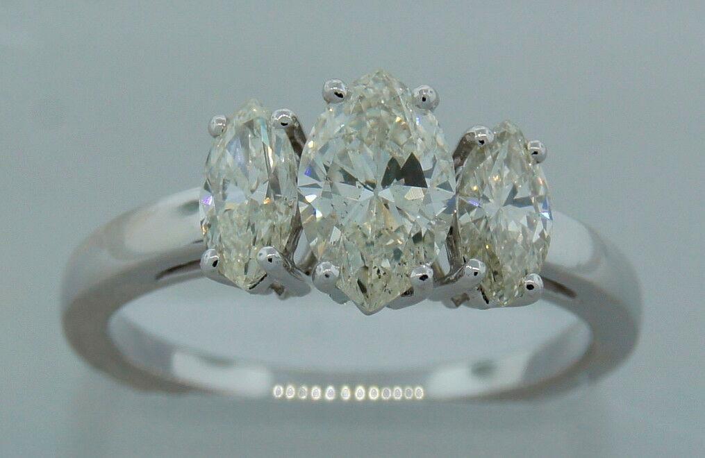 1.41 cts MARQUISE DIAMOND PLATINUM RING SIZE 6