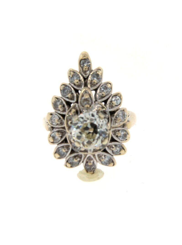ART DECO 14k White Gold & Diamond Ring!