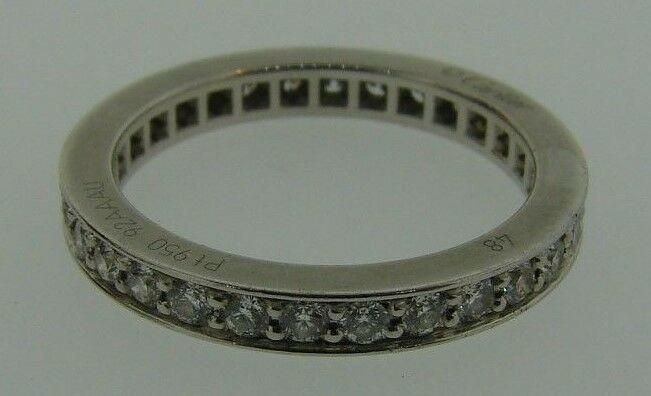 CLASSIC Cartier Platinum & Diamond Band with Original