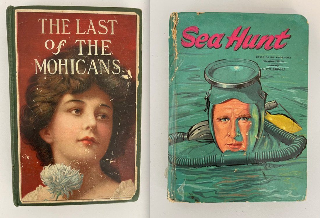 TWO VINTAGE BOOKS INCLUDING LAST / MOHICANS