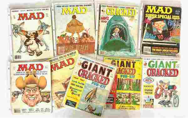 A COLLECTION OF VINTAGE MAD AND CRACKED MAGAZINES