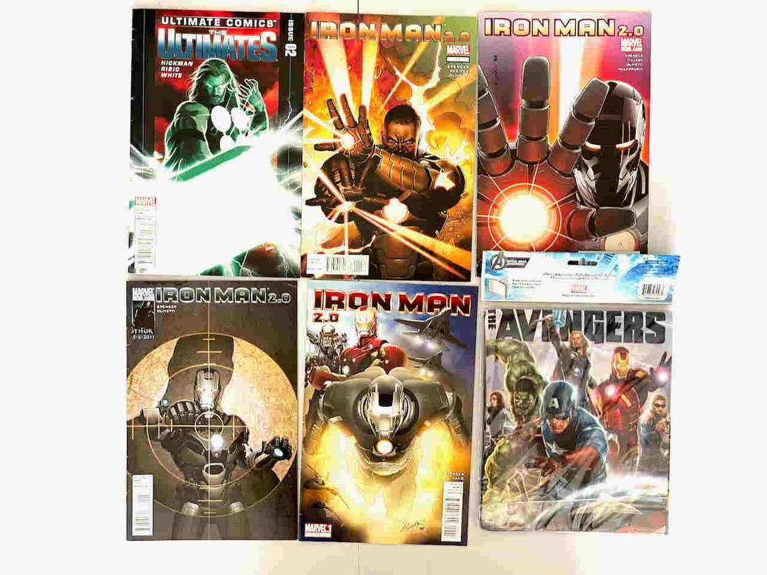 IRON MAN COMICS AND FABRIC BOOK COVER