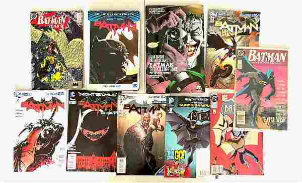 A COLLECTION OF BATMAN COMICS AND BOOK