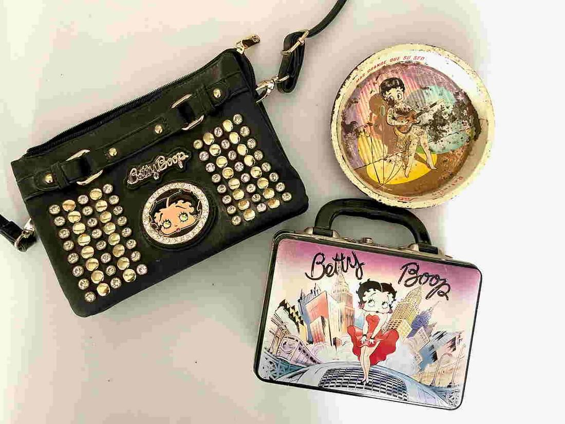 BETTY BOOP PURSE, LUNCHBOX AND TRAY