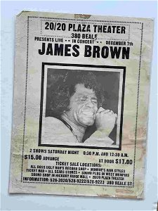 RARE JAMES BROWN POSTER FROM MEMPHIS