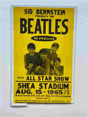 BEATLES SHEA STADIUM REPRINT