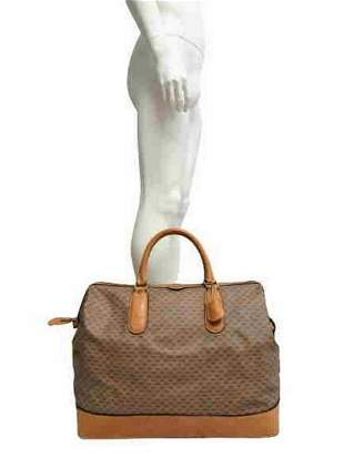 """Gucci"" Travel handbag in beige monogram coated canvas"