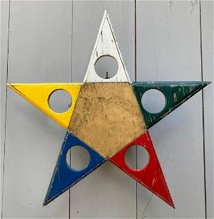 C1940 star with original colorful paint