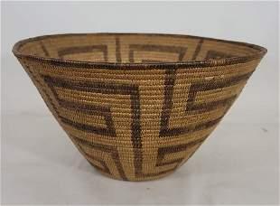Deep Pima woven basketry bowl ca 1900-1920