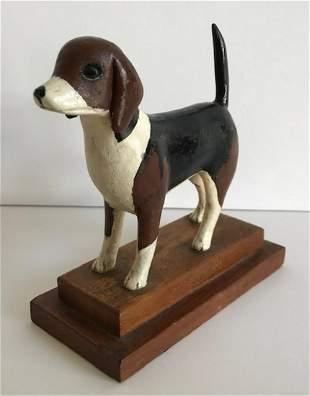 Carved Figure of a Beagle